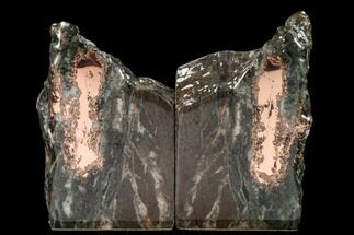 "6.1"" Tall, Copper Ore Bookends - Keweenaw Peninsula, Michigan For Sale, #160163"