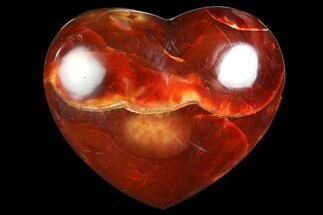 "Buy 4.55"" Colorful Carnelian Agate Heart - #167371"