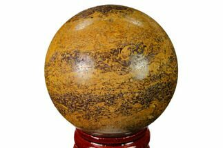"1.95"" Polished Coquina Jasper Sphere - India For Sale, #167603"