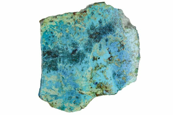 "2"" Polished Blue River Chrysocolla Slice - Arizona"