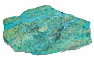 "2.7"" Polished Blue River Chrysocolla Section - Arizona For Sale, #167540"