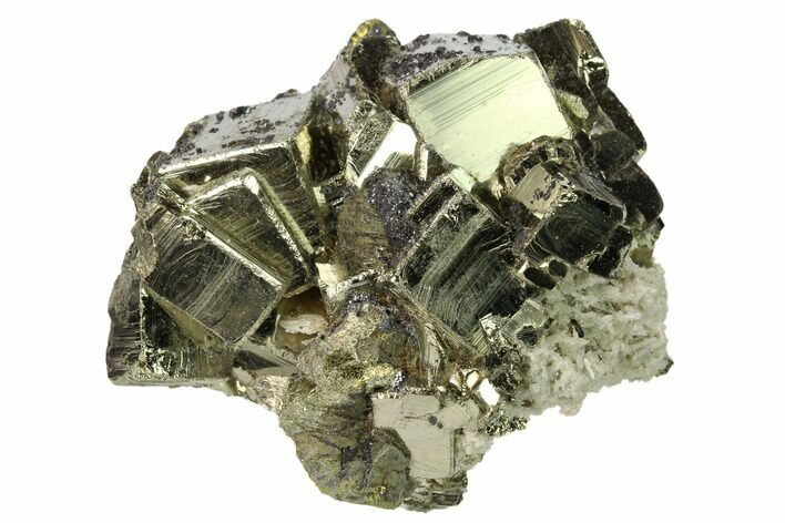 "2.2"" Pyrite, Sphalerite, Quartz and Chalcopyrite Association - Peru"