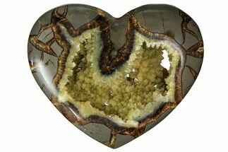 "Buy 5.1"" Polished Utah Septarian Heart - Beautiful Crystals - #167863"