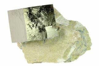"Buy .82"" Natural Pyrite Cube In Rock - Navajun, Spain - #168499"