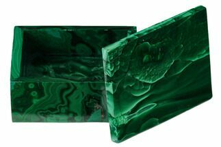 "2.2"" Polished Malachite Jewelry Box - Congo For Sale, #169850"