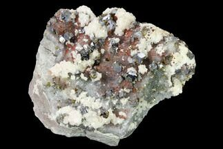 "Buy 4.4"" Hematite Quartz, Chalcopyrite, Dolomite & Galena Association - #170287"