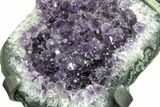 "5.8"" Amethyst Geode Section on Metal Stand - Deep Purple Crystals - #171779-4"