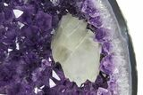 "15.2"" Amethyst Geode Section with Calcite on Metal Stand - Uruguay - #171907-1"