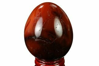 "2.3"" Colorful, Polished Carnelian Agate Egg - Madagascar For Sale, #172718"