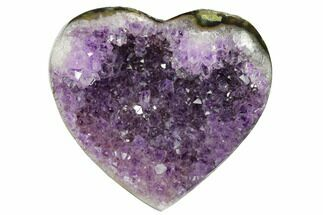 "Buy 4"" Dark Purple Amethyst Heart - Uruguay - #173239"
