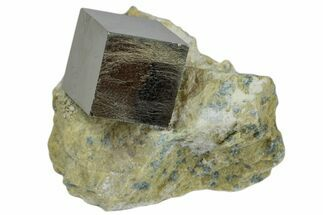 "Buy .57"" Natural Pyrite Cube In Rock - Navajun, Spain - #168445"