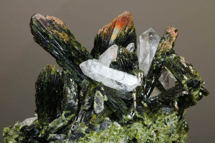 "2.3"" Quartz and Epidote Crystal Association - Pakistan"