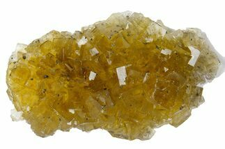 "2.85"" Gemmy, Yellow, Cubic Fluorite Crystal Cluster - Asturias, Spain For Sale, #175532"